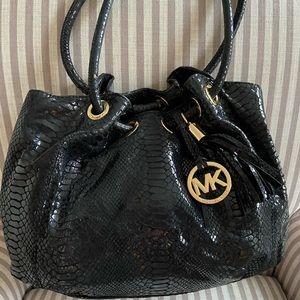 Michael Kors black python bag
